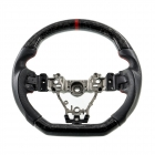 SMY Forged Carbon Fiber D-Shaped Leather Steering Wheel w/ Red Stripe 2015-2020 WRX/STI